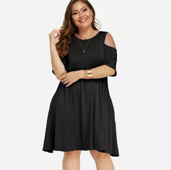 Nemidor Plus Size Cold Shoulder Dress NWT